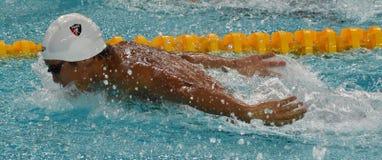Amerykański konkurencyjny pływaczki LIANG Alex Wang usa Fotografia Stock