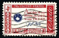 Amerykański kredo znaczek pocztowy zdjęcia stock