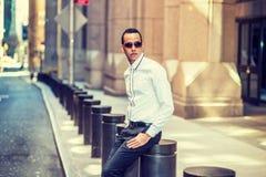 Amerykański mężczyzna Podróżuje w Nowy Jork Zdjęcie Stock