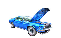 Amerykański mięśnia samochód odizolowywający na białym tle Obraz Royalty Free