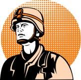amerykański militarny żołnierz Obrazy Royalty Free