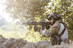 amerykański mknący żołnierz Zdjęcia Royalty Free
