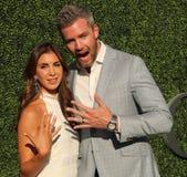 Amerykański nieruchomość sprzedawca i rzeczywistości telewizyjna gwiazda Ryan Serhant R i Emilia Bechrakis uczęszczamy us open 20 Zdjęcia Stock