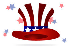 Amerykański odgórny kapelusz Fotografia Royalty Free