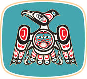 amerykański orła miejscowego styl royalty ilustracja