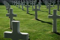 Amerykański pamiątkowy cmentarz Obraz Stock