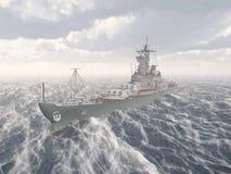 Amerykański pancernik druga wojna światowa Fotografia Stock