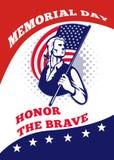 Amerykański Patriota Dzień Pamięci Plakata Kartka Z Pozdrowieniami ilustracji