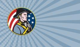 Amerykański patriota minuteman Z flaga ilustracja wektor