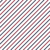 Amerykański patriotyczny bezszwowy wzór z lampasami w tradycyjnych czerwieni, błękitnych i bielu kolorach, royalty ilustracja