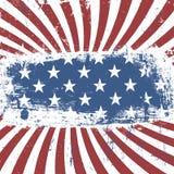 Amerykański patriotyczny rocznika tło wektor Zdjęcia Royalty Free