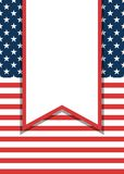 Amerykański patriotyczny ulotki tło royalty ilustracja