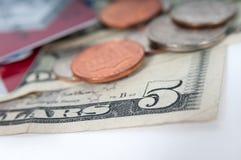 Amerykański pieniędzy dolarowych rachunków zbliżenie Fotografia Royalty Free