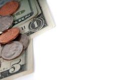 Amerykański pieniędzy dolarowych rachunków zbliżenie Zdjęcie Royalty Free