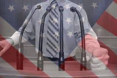 Amerykański polityk zdjęcia stock