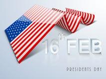 Amerykański prezydentów dni świętowanie z kreatywnie flaga Obrazy Royalty Free
