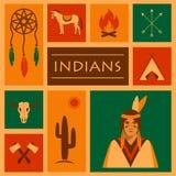 Amerykański rodzimy hindus ilustracji