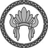 Amerykański rodzimy indyjski pióropusz Obrazy Royalty Free