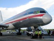 amerykański samolot linii lotniczych Zdjęcie Stock