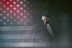 Amerykański seryjny zabójca royalty ilustracja