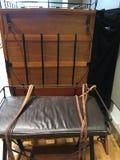 Amerykański stagecoach strażnika i kierowcy siedzenie, muzealny pokaz, 1 obraz royalty free