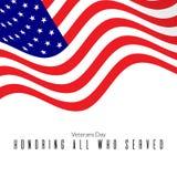 amerykański tła flaga falowanie Fotografia Stock