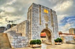 Amerykański Wojenny pomnik w Gibraltar Budujący w 1933 i wcielający w główną miasto ścianę Zdjęcie Stock