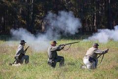 Amerykański wojny domowej bitwy Reenactment zdjęcia stock