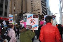 Amerykański wybory, tajne głosowanie Nie pociski, NRA, Marzec dla Nasz żyć, NYC, NY, usa Zdjęcia Stock