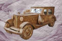 Amerykański wzorcowy samochód robić drewno obraz stock