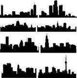 amerykańskich budynków wysoki wzrost ilustracji