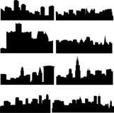 amerykańskich budynków wysoki wzrost ilustracja wektor