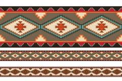 Amerykańskich indianów koc plemienni wzory ilustracji