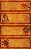 amerykańskich sztandarów indyjscy wzory tradycyjni ilustracja wektor