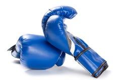 amerykańskie bokserskie rękawice walki flagi odizolować główną rolę grają białe pasy Obraz Royalty Free