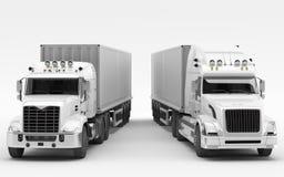 Amerykańskie ciężarówki Międzynarodowy transport Royalty Ilustracja