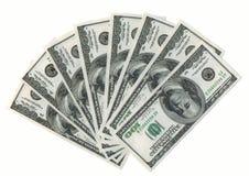 amerykańskie dolary fanem xxxl obraz stock