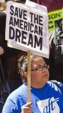 amerykańskie marzenia wiec save zdjęcia royalty free