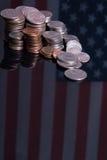 amerykańskie monety zaznaczają Zdjęcie Royalty Free