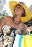amerykańskie torby fasonują zakupy safrican kobiety Zdjęcia Royalty Free