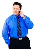 amerykańskiego biznesmena łaciński mobilny używać obraz royalty free