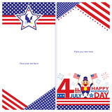 Amerykańskiego dnia niepodległości szablonu karciani sety Ilustracji