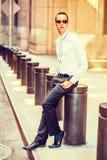 Amerykańskiego mężczyzna Uliczna moda w Nowy Jork Zdjęcia Stock