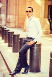 Amerykańskiego mężczyzna Uliczna moda w Nowy Jork Obrazy Stock