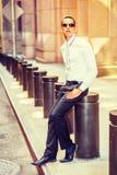 Amerykańskiego mężczyzna Uliczna moda w Nowy Jork Obraz Royalty Free