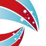 amerykańskiego tła barwione gwiazdy ilustracji