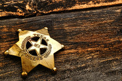 Amerykańskiego Zachodniego strażnika teksasu Lawman Antykwarska odznaka Zdjęcie Royalty Free