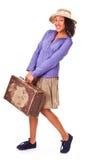 amerykańskiej łatwej dziewczyny łacińskie retro podróże Zdjęcie Royalty Free