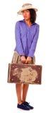 amerykańskiej łatwej dziewczyny łacińskie retro podróże obraz royalty free