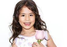 amerykańskiej dziewczyny łaciński ładny portret Obrazy Royalty Free